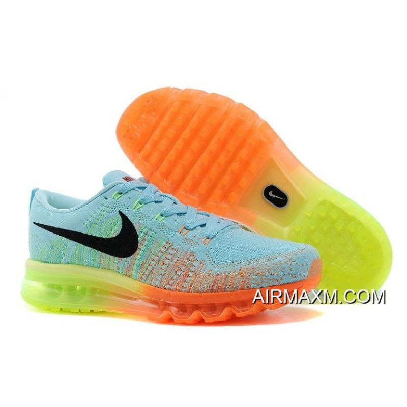 new products a1d04 4b93e ... coupon code where to buy nike flyknit air max pink blue orange black  93821 fb1fc