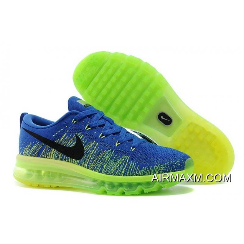 158ebba380 Nike Flyknit Air Max Royal Blue Neon Green New Release, Price ...