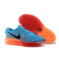 Latest Nike Flyknit Air Max Royal Blue Orange