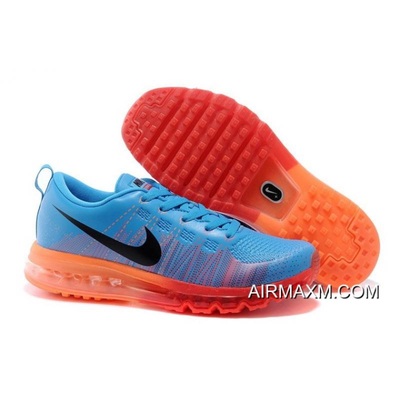 6b2a34acf57d Nike Flyknit Air Max Running Royal Blue Red Orange New Release ...
