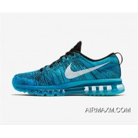 Flyknit AirMax Women Sky Blue Black Grey For Sale