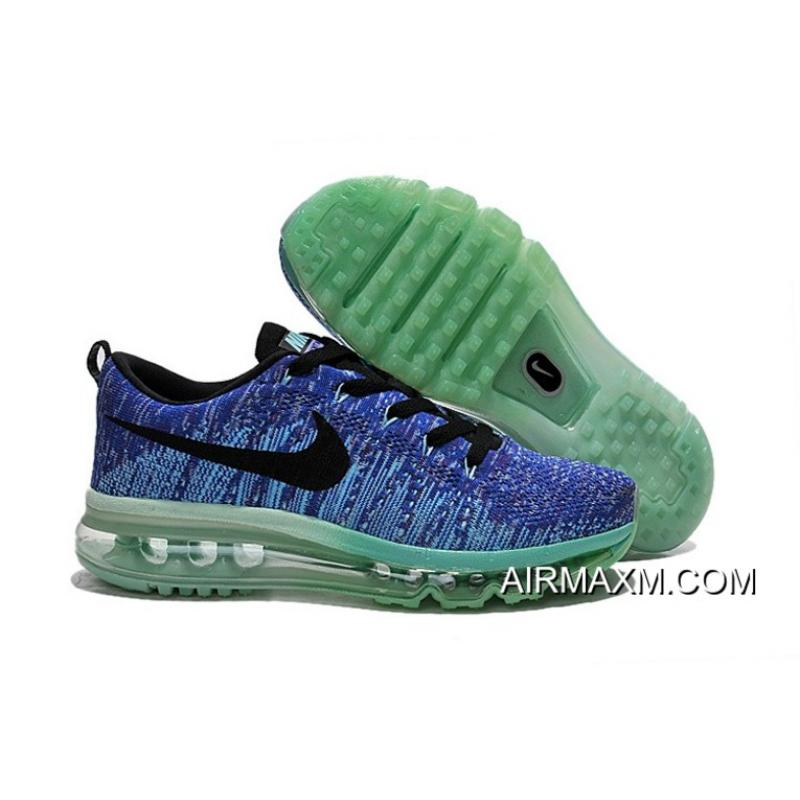 Authentic Nike Air Max Flyknits Women Blue Black Green ... 78c14590cf