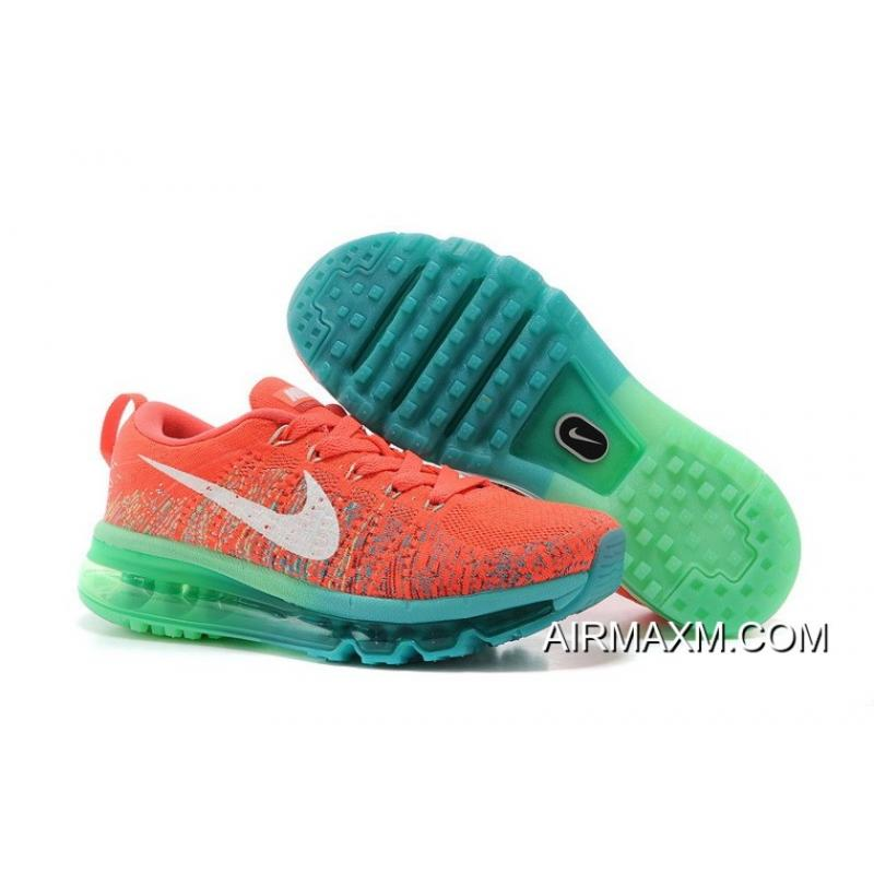 c1629c00c517a Discount Nike Flyknit Air Max Women Orange Red Blue Green ...