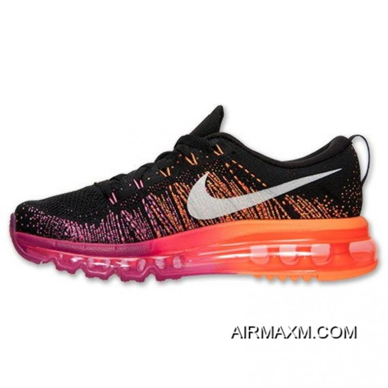 caf4113deee1 ... New Year Deals Nike Flyknit Air Max Women Pink Black Orange