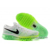 Nike Women Flyknit Air Max White Black Electric Green Medium Mint Latest