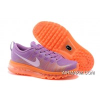 New Release Women Flyknit Air Max Running Purple Orange White