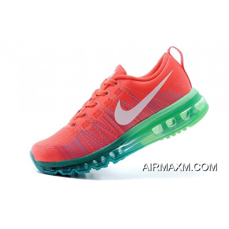 new style 4f628 a4a39 ... Women Flyknit Air Max Running Red Green Neon Discount ...