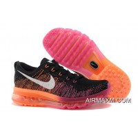 Women Nike Flyknit Air Max Pink Black Orange New Style