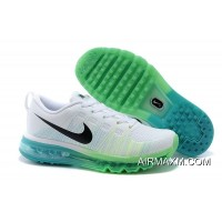 Women Nike Flyknit Air Max Running White Green Outlet