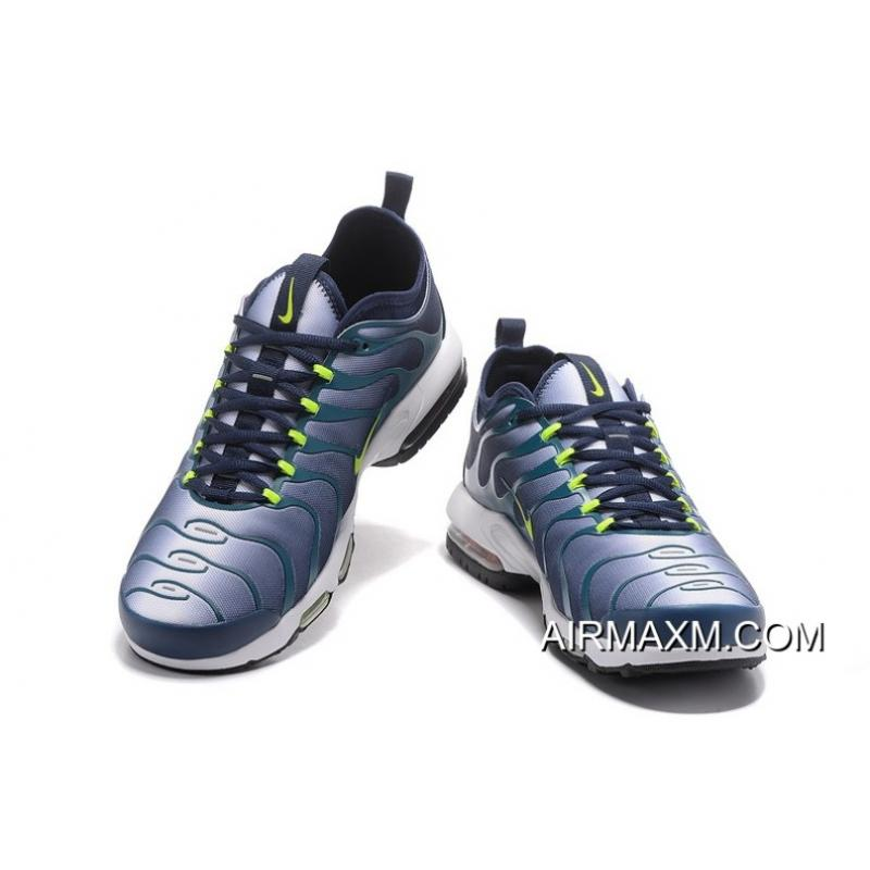 the latest f45fd 0d3e3 Nike Air Max Plus TN Dark Blue Dark Green White For Sale