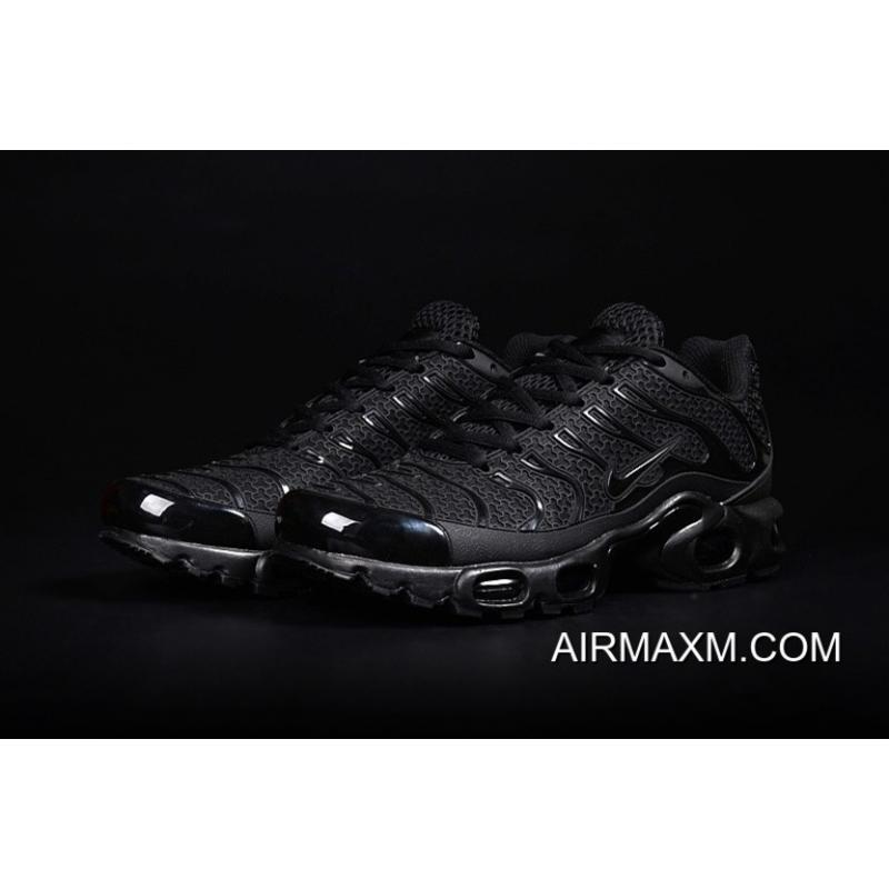 bef71e39bf Nike Air Max TN Leather ALL Black Shoes Super Deals, Price: $73.23 ...
