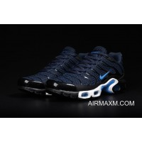 Outlet Nike Air Max TN Leather Blue Black White Shoes