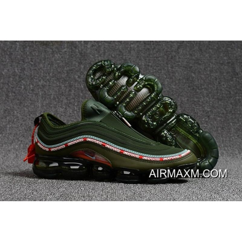 hot sales d6011 88e9e Nike Air VaporMax 97 Army Green Red Discount