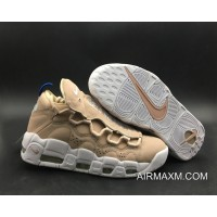 Women Big Deals Nike Air More Money WMNS Particle Beige White