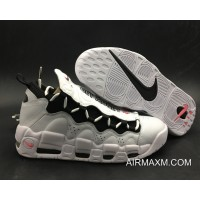Women/Men Best Nike Air More Money 'Mo Money' White/Black-University Red