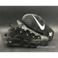 Women/Men Nike Air More Money Black/Metallic Silver-Black Authentic