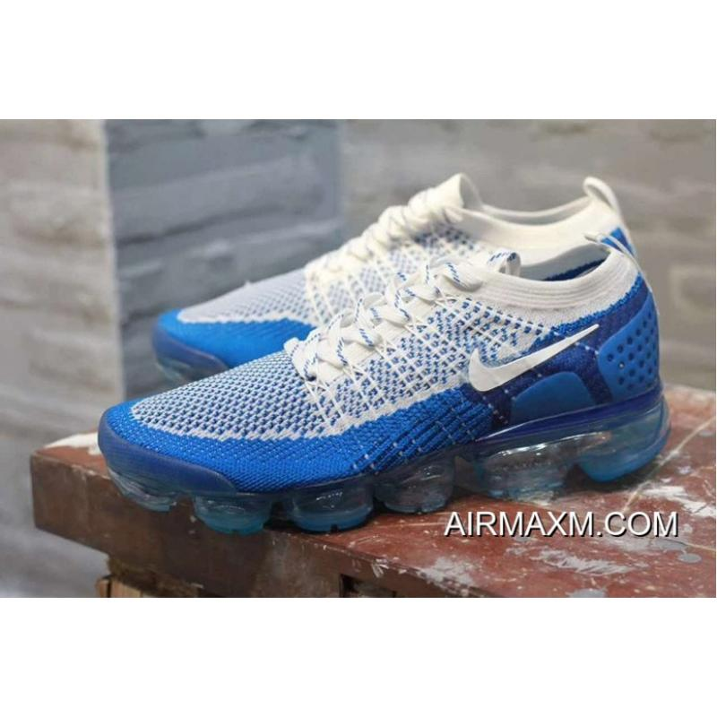 best sneakers b2c1d 15095 Nike Air VaporMax 2018 Flyknit White Blue New Release ...