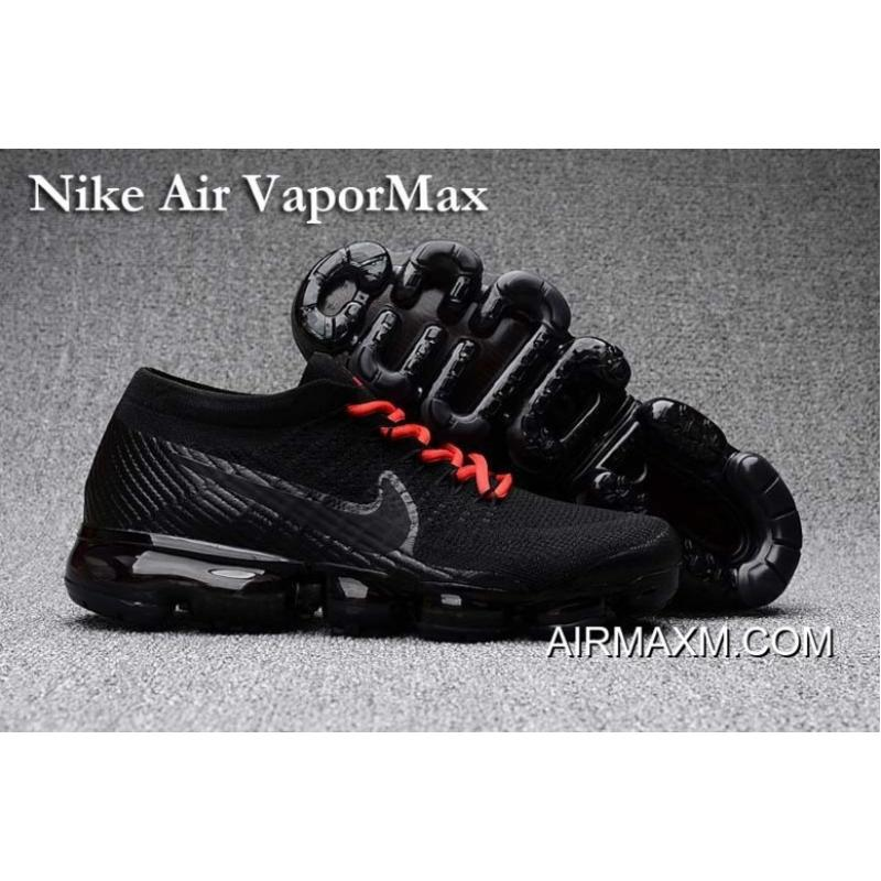 new product 35b11 d9bea Nike Air Vapormax Black Red Shoes Free Shipping ...