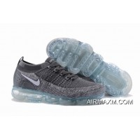 Free Shipping Nike Air VaporMax Flyknit 2 Grey White Light Blue