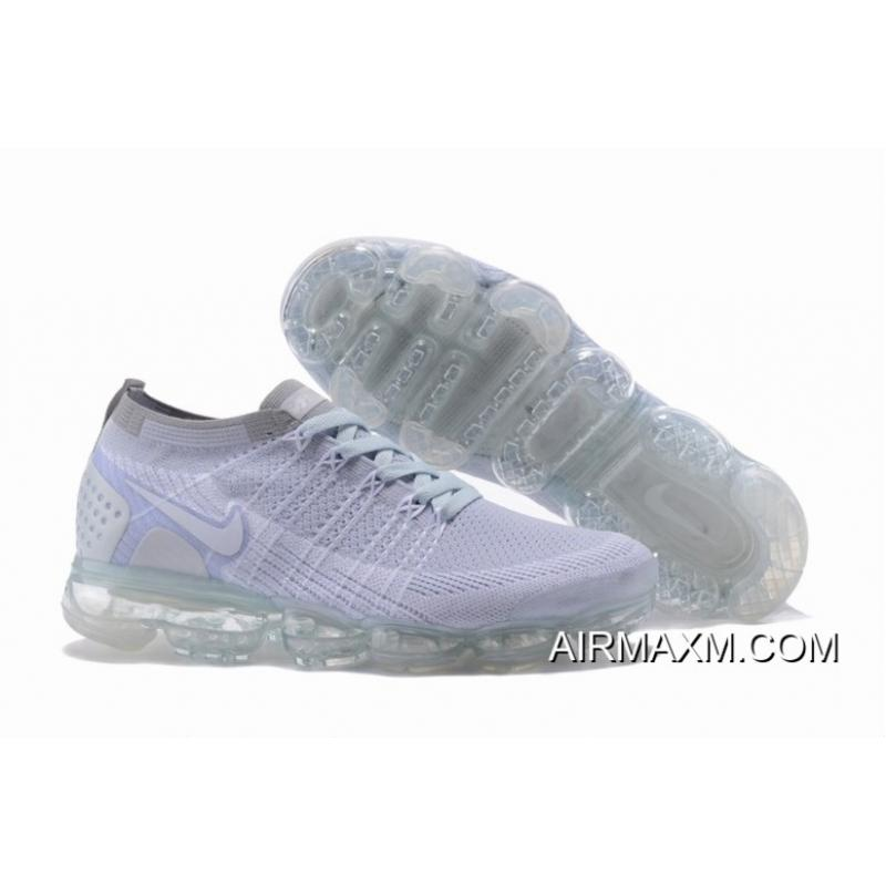 Nike Air VaporMax Flyknit 2 Grey White New Release ... 5d8af0630