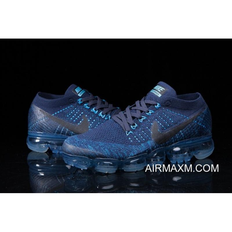 newest e7301 71f27 Discount Nike Air Vapormax Flyknit Blue Black Shoes