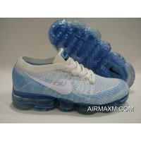New Year Deals Nike Air Vapormax Flyknit Blue White Shoes