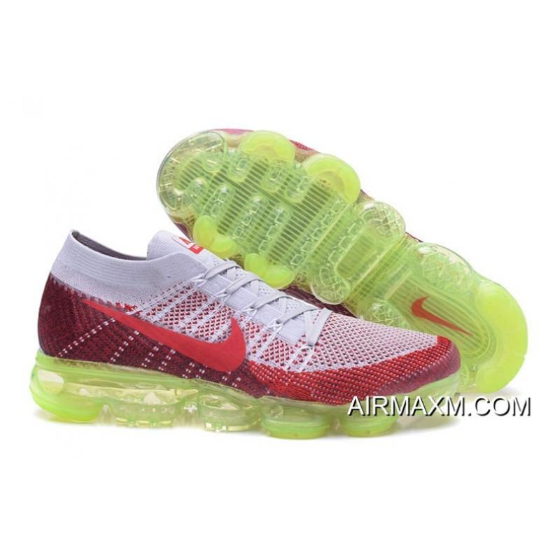 5bc87e146d714 Nike Air Vapormax Gray Red Green Latest ...
