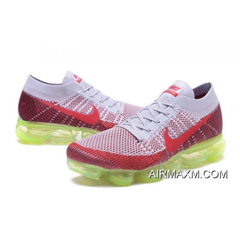 fe707fa3afc4c ... Nike Air Vapormax Gray Red Green Latest