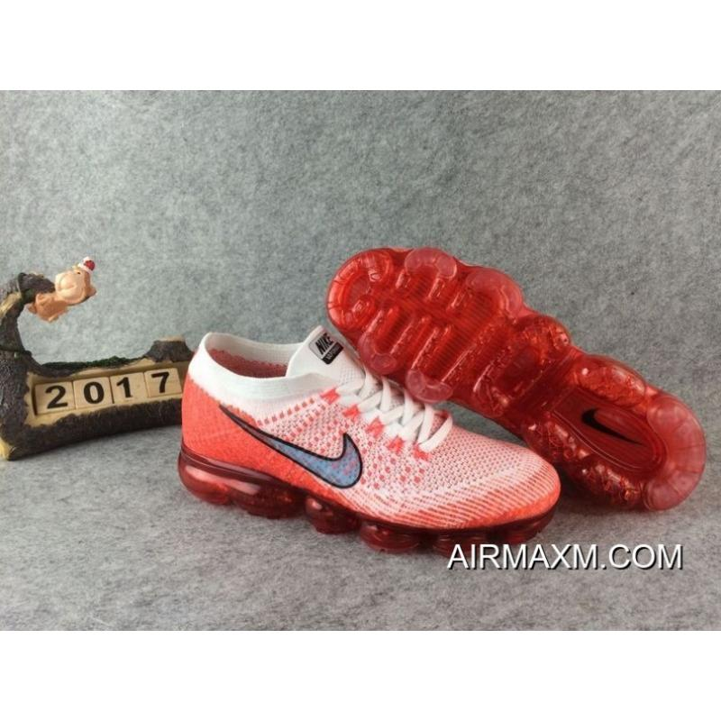 Nike Air Max 2018 Nike Air Vapormax Flyknit New Rlease 2017 Red Black For TopDeals