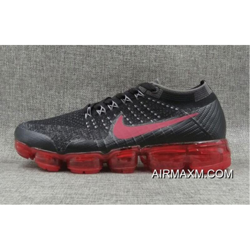 1c7a6a654d29cb Nike VaporMax Flyknit Black Grey Red Buy Now ...