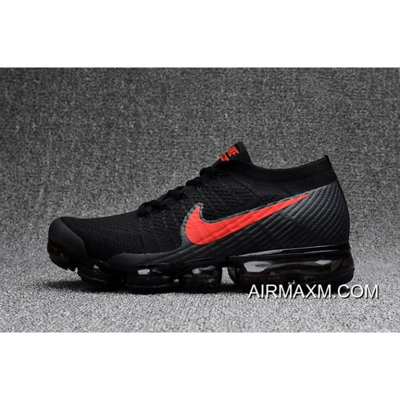 watch f1c0d aef08 Nike VaporMax Flyknit Black Red New Release