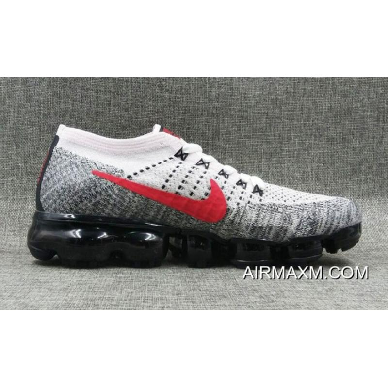 reputable site 7b564 6b313 Latest Nike VaporMax Flyknit White Black Red