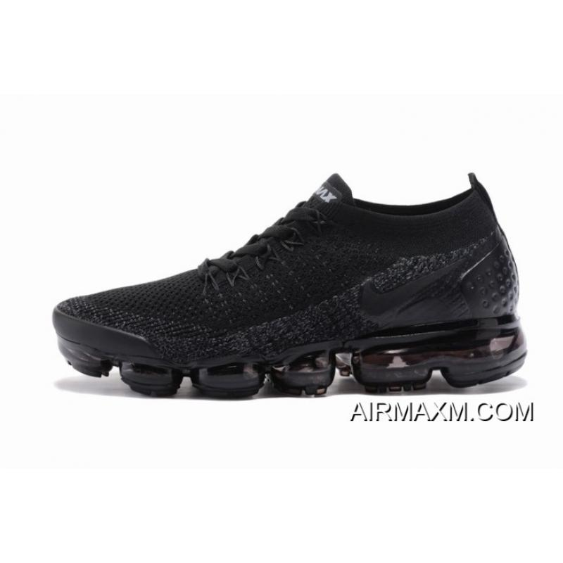 43bf2b669cdc9 ... Nike Air VaporMax Flyknit 2 All Black Women Authentic ...