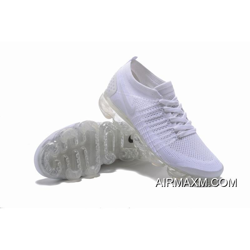 1c870e74aee52 ... Nike Air VaporMax Flyknit 2 All White Women New Year Deals ...