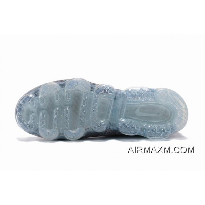 a0e80035652c ... Latest Nike Air VaporMax Flyknit 2 Grey White Light Blue Women ...