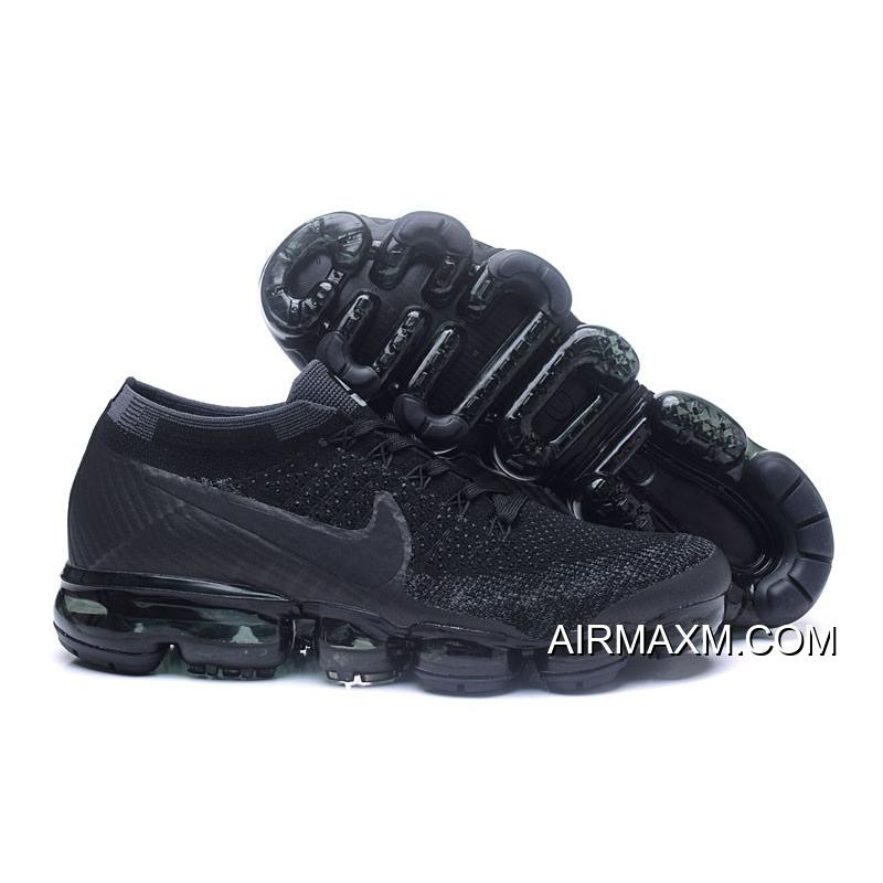 4864cb03780a8 Nike Air Vapormax Flyknit Moc Green Black White Women New Style ...