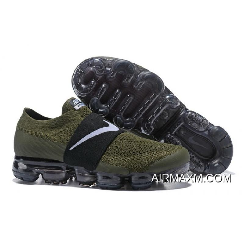 a7b5c5ad00 Nike Air Vapormax Flyknit Moc Green Black White Women Discount ...