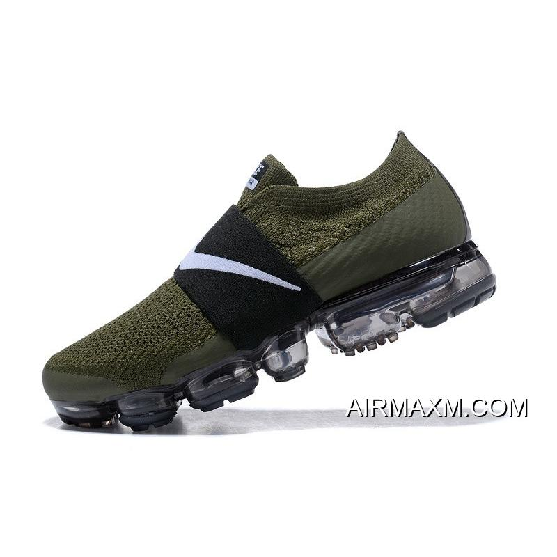 c3f738ed0d170 ... Nike Air Vapormax Flyknit Moc Green Black White Women Discount ...