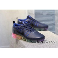 Best Nike Air VaporMax Leather Nave Blue Black Colorful Women