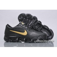 Nike Air VaporMax Leather Black Gold Buy Now