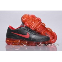 Nike Air VaporMax Leather Black Red Outlet