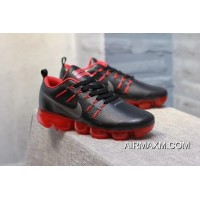 Where To Buy Nike Air VaporMax Leather Nave Black Red