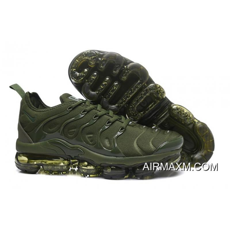 pretty nice a68b0 2f8b7 Nike Air VaporMax TN Plus Army Green Free Shipping ...