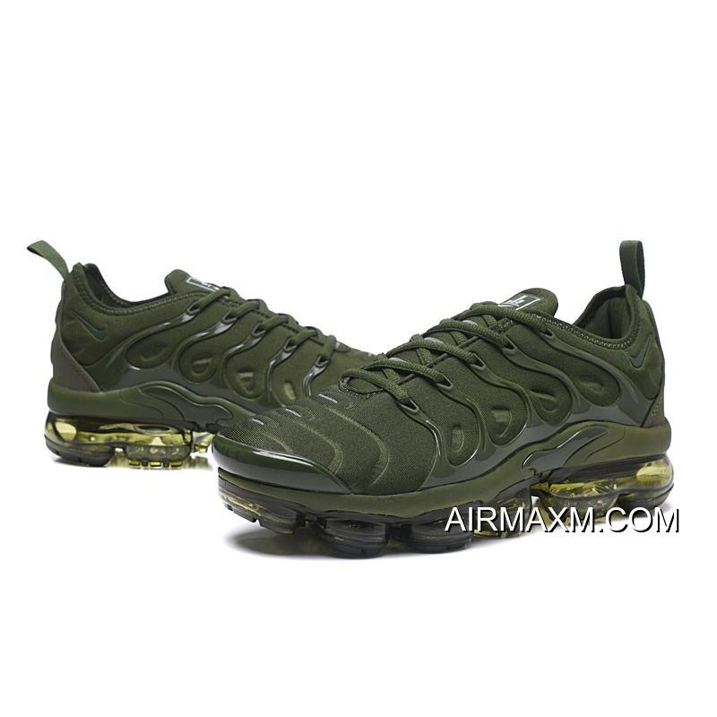new product 740c6 1d786 Nike Air VaporMax TN Plus Army Green Free Shipping