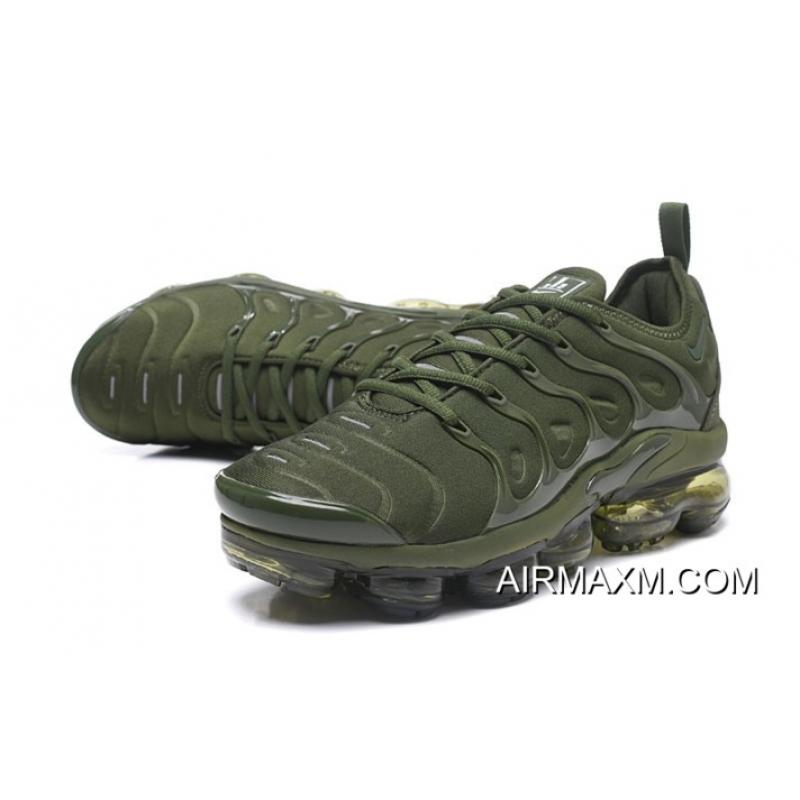 new product 88a16 8e8dd Nike Air VaporMax TN Plus Army Green Free Shipping