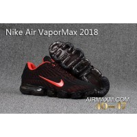 New Release Nike Air Vapormax 2018 Black Red Running Shoes