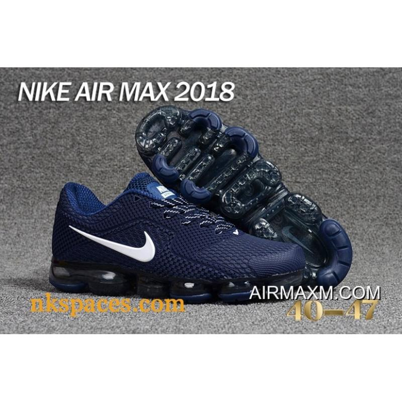 low priced e3f9c a6453 New Style Nike Air Vapormax 2018 Navy Blue White