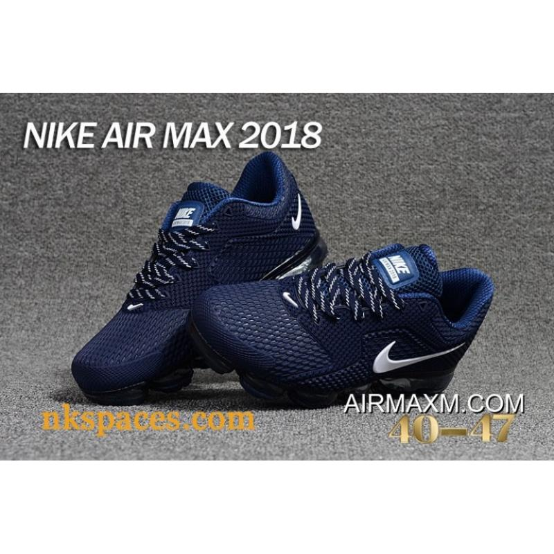 110428ff50 New Style Nike Air Vapormax 2018 Navy Blue White, Price: $95.21 ...