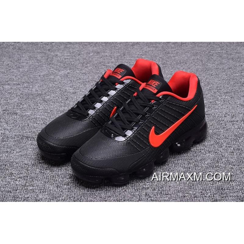 8d1c5606b8 Shop Nike Vapormax 2018 Black Red Running Shoes Super Deals, Price ...