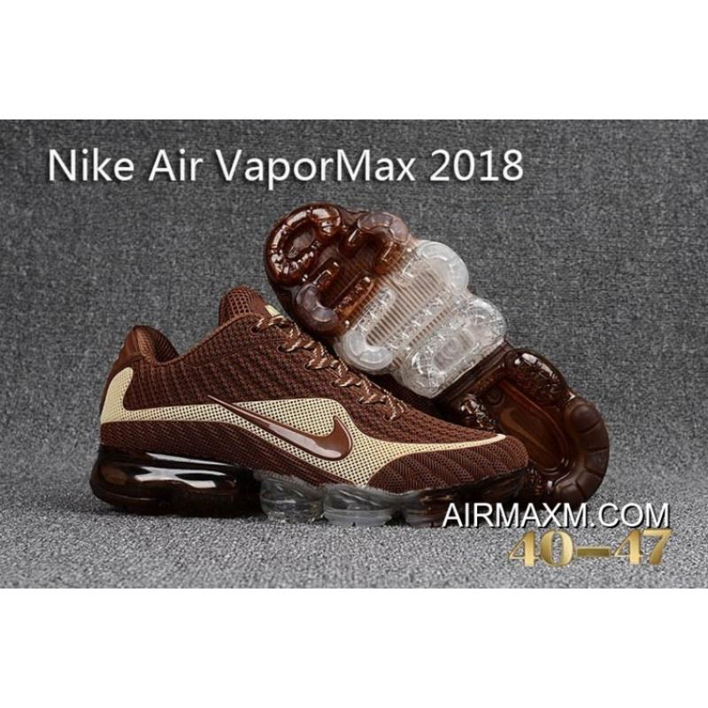 6ef9ec0466d4 Shop Nike Vapormax 2018 Brown White Running Shoes New Release ...